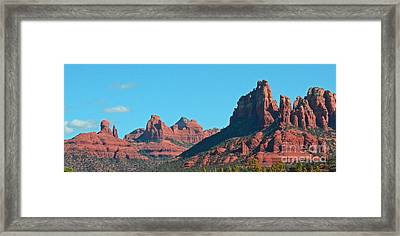 Framed Print featuring the photograph Sedona Panorama by Debby Pueschel