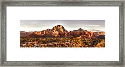 Sedona Panorama Framed Print by Kayta Kobayashi