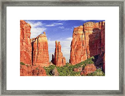 Sedona Red Rock Cathedral Rock State Park Framed Print by Bob and Nadine Johnston