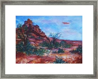 Sedona Red Rocks - Impression Of Bell Rock Framed Print by Ellen Levinson