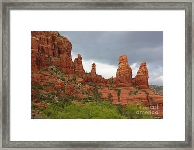 Sedona Sandstone Framed Print by Carol Groenen