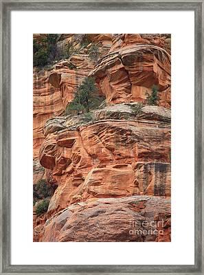 Sedona Sandstone Cliff Framed Print