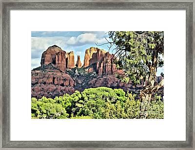 Framed Print featuring the photograph Sedona Scene by Lori Mellen-Pagliaro