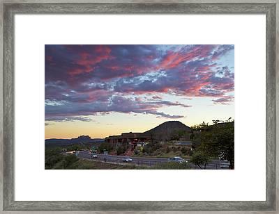 Sedona Skies Rev. Framed Print by Tom Kelly