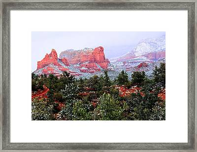 Sedona Snow Framed Print