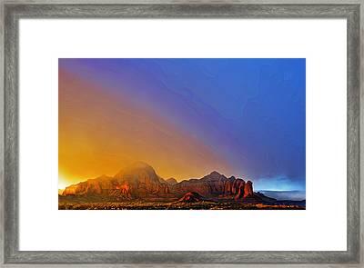 Sedona Stormy Sunset Framed Print