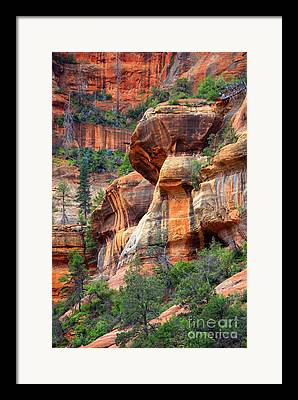 Slide Rock State Park Framed Prints