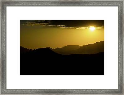 Sedona Sunset Framed Print by Christian Capucci