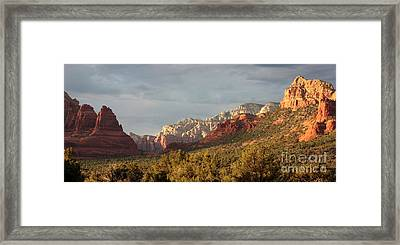 Sedona Sunshine Panorama Framed Print