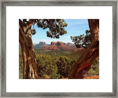 Sedona Vista Framed Print by Marilyn Smith