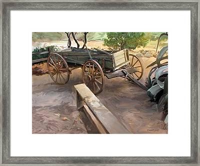 Sedona Wagon Framed Print
