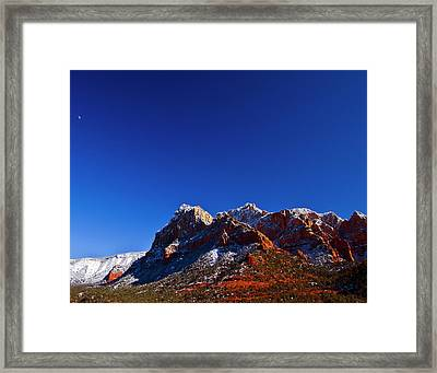 Framed Print featuring the photograph Sedona Winter by Tom Kelly