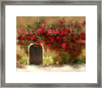 The Bougainvillea's Of Sedona Framed Print