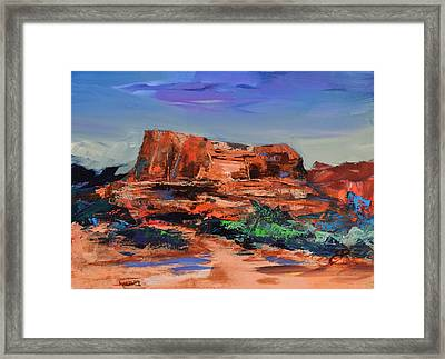 Sedona's Heart Framed Print by Elise Palmigiani