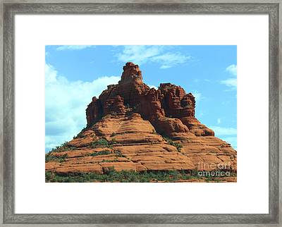 Sedona's Red Rock Framed Print by French Toast