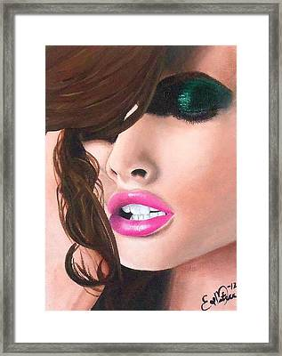Framed Print featuring the painting Seduction by Oddball Art Co by Lizzy Love