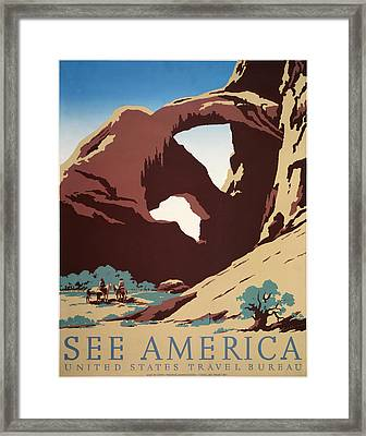 See America - Cowboys Framed Print by Georgia Fowler