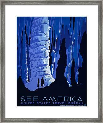 See America Framed Print by Georgia Fowler