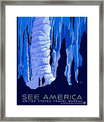 See America - Vintage 1930s Travel Poster Framed Print by Mark E Tisdale