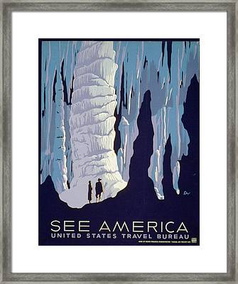 See American Caverns Framed Print by Alexander Dux