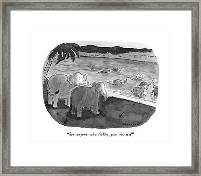 See Anyone Who Tickles Your Ivories? Framed Print