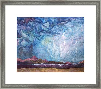 See It Coming Framed Print by Zoe Scroggs