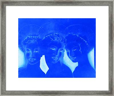 See Love Hear Love Speak Love Framed Print