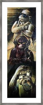 See No Framed Print by Vanessa Bates