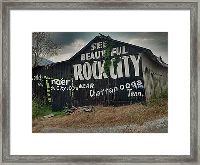 See Rock City Barn Framed Print
