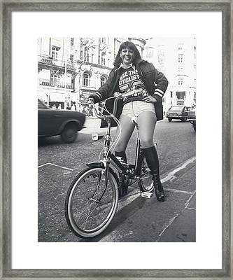 See The Cyclist �76 Campaign Framed Print by Retro Images Archive