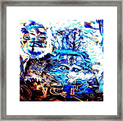 See The Sea Trolls Diving Deep Down Where They Can't Be Seen Anymore  Framed Print by Hilde Widerberg