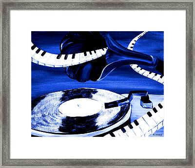 See The Song In Blue Framed Print by Mark Moore