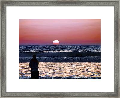 See The Sun Set Framed Print by Camille Lopez