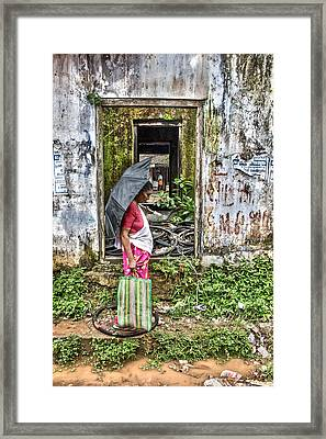 See Through Framed Print by Sonny Marcyan