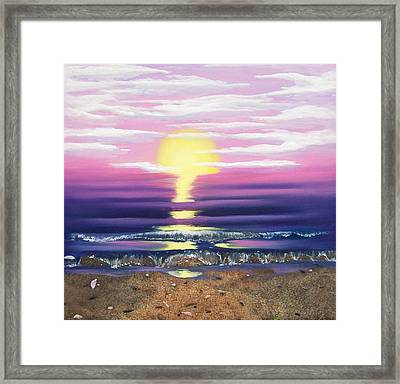 See Through The Sun Is Set Framed Print