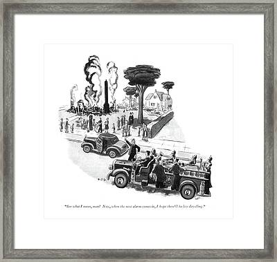 See What I Mean Framed Print by Robert J. Day