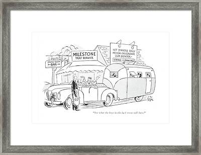 See What The Boys In The Back Room Will Have Framed Print by George Price