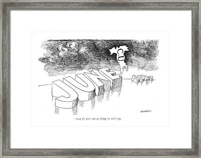 See You In Italy At The End Of June Framed Print by Saul Steinberg