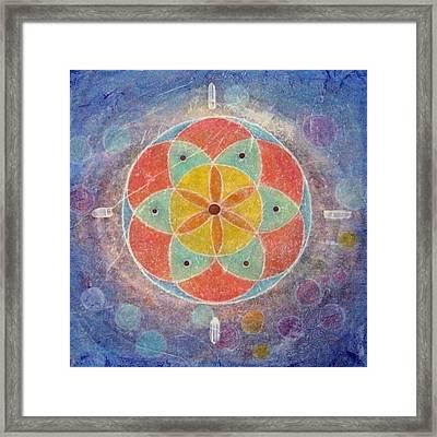 Seed Of Life Mandala Framed Print by Janelle Schneider