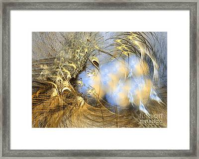 Seeds Of Peace - Surrealism Framed Print