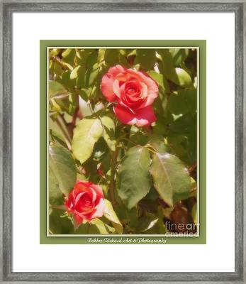 Seeing Double Framed Print by Bobbee Rickard