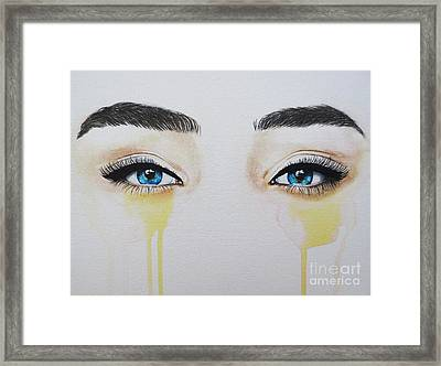 Seeing Into The Soul Secretive Framed Print