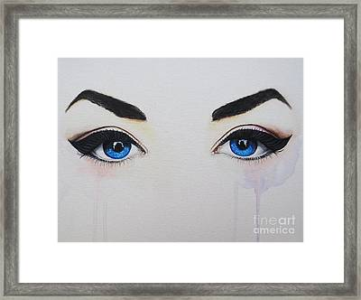 Seeing Into The Soul Seductive Framed Print
