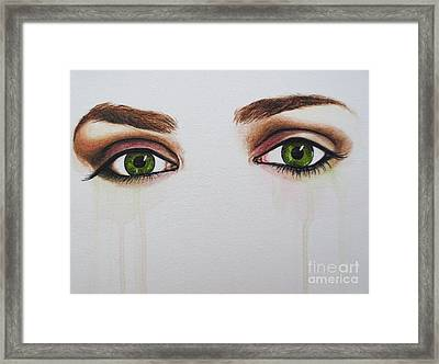 Seeing Into The Soul Serious Framed Print