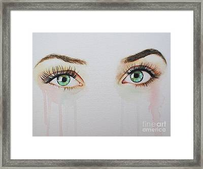 Seeing Into The Soul Sultry Framed Print