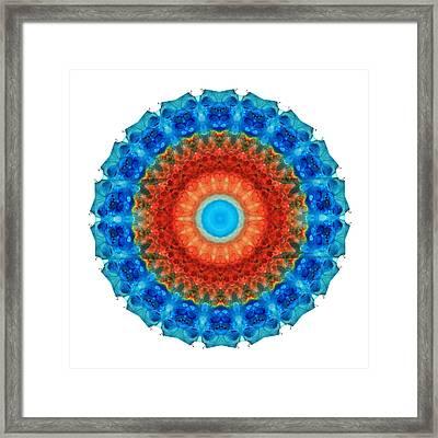 Seeing Mandala 2 - Spiritual Art By Sharon Cummings Framed Print