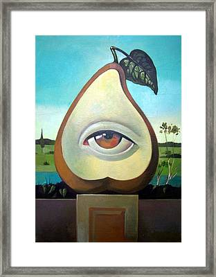 Seeing Pear Framed Print by Filip Mihail
