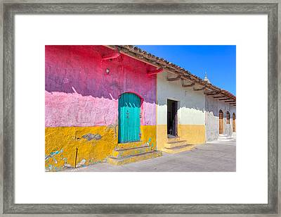 Seeing Pink In Latin America - Granada Framed Print