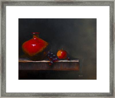 Seeing Red Framed Print by Gina Cordova