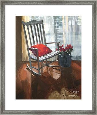 Sold - Seeing Red  Framed Print